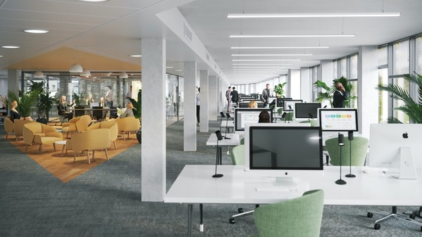 Bureaux Arobase Cachan immeubles tertiaires - espaces de restauration food court, de détentes, de convivialité
