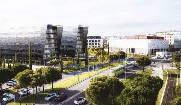 Néos bureaux dans le quartier Garosud au Sud-Ouest de Montpellier