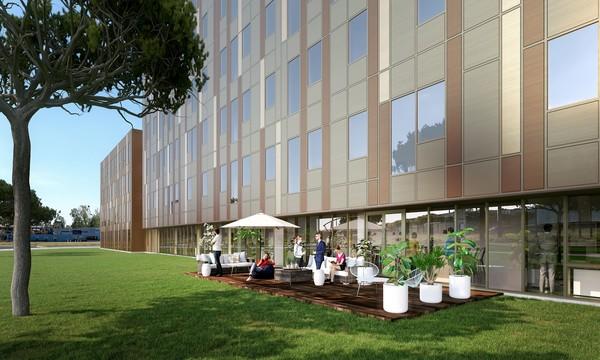 Équinox 2 vue terrasse - Toulouse Colomiers   Lazard Group - parc d'affaires au cœur la ZAC des Ramassiers