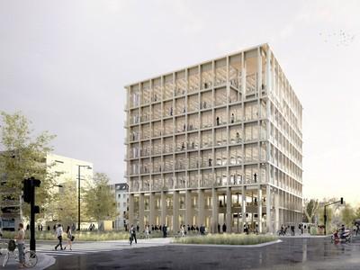Au cœur du quartier Rive Étoile, Immeuble de bureaux structure bois