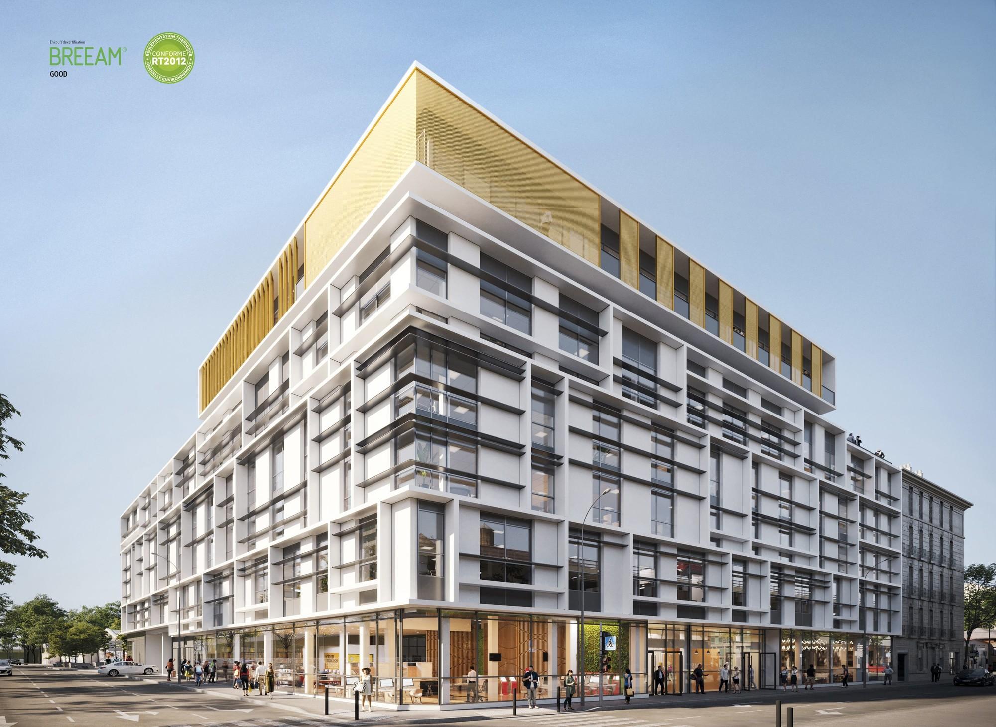 Phocéa Lazard Group centre ville Marseille vue bureaux et commerces