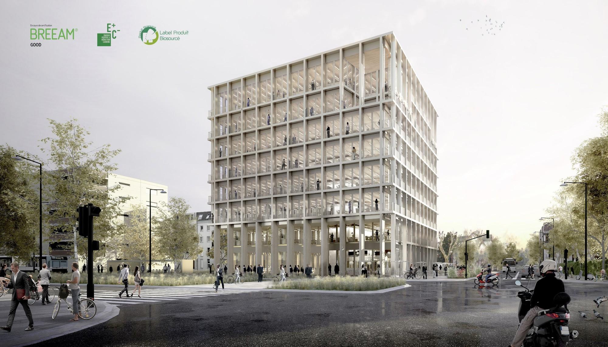Cube Strasbourg Lazard Group Bureaux Immeuble bois