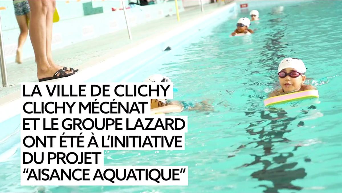 Camille Lacourt- Aisance aquatique - Clichy mécénat - clichy